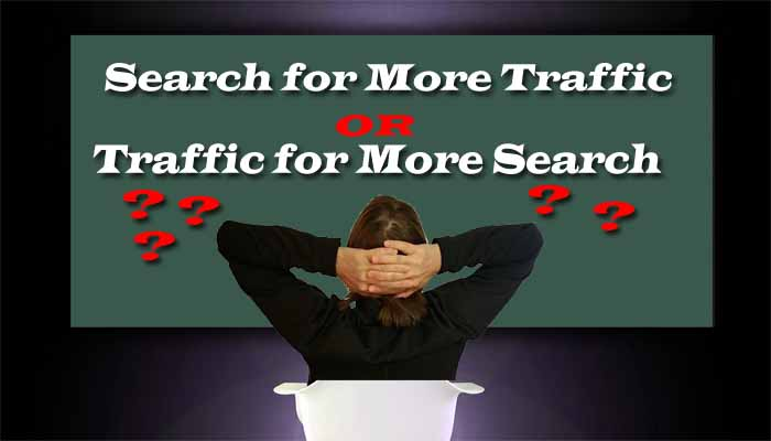 search for more traffic